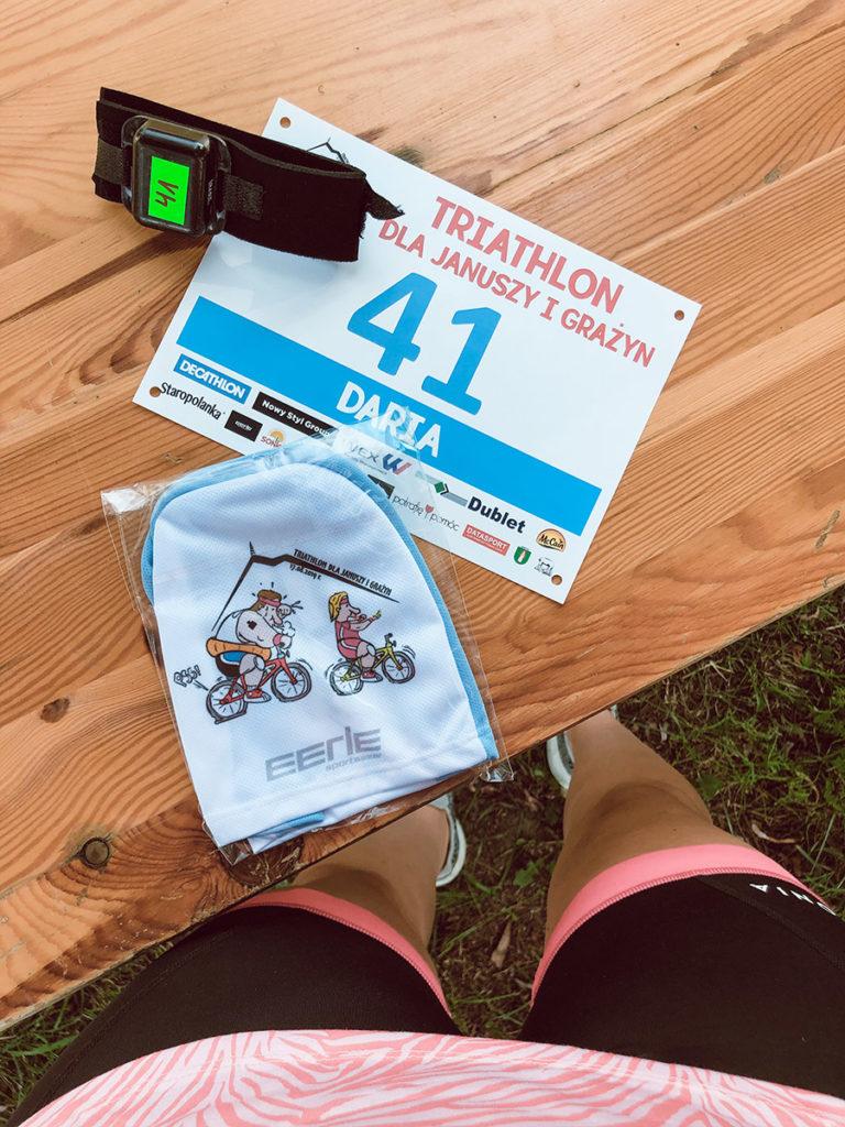 triathlon dla januszy i grażyn triathlon 1/8 iron man dystans sprinterski pakiet startowy