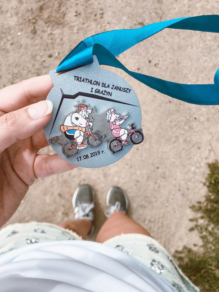 triathlon dla januszy i grażyn triathlon 1/8 iron man dystans sprinterski medal