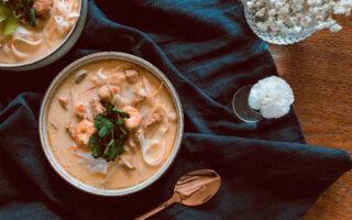 nomadchic.pl zupa tajska z krewetkami mleczkiem kokosowym
